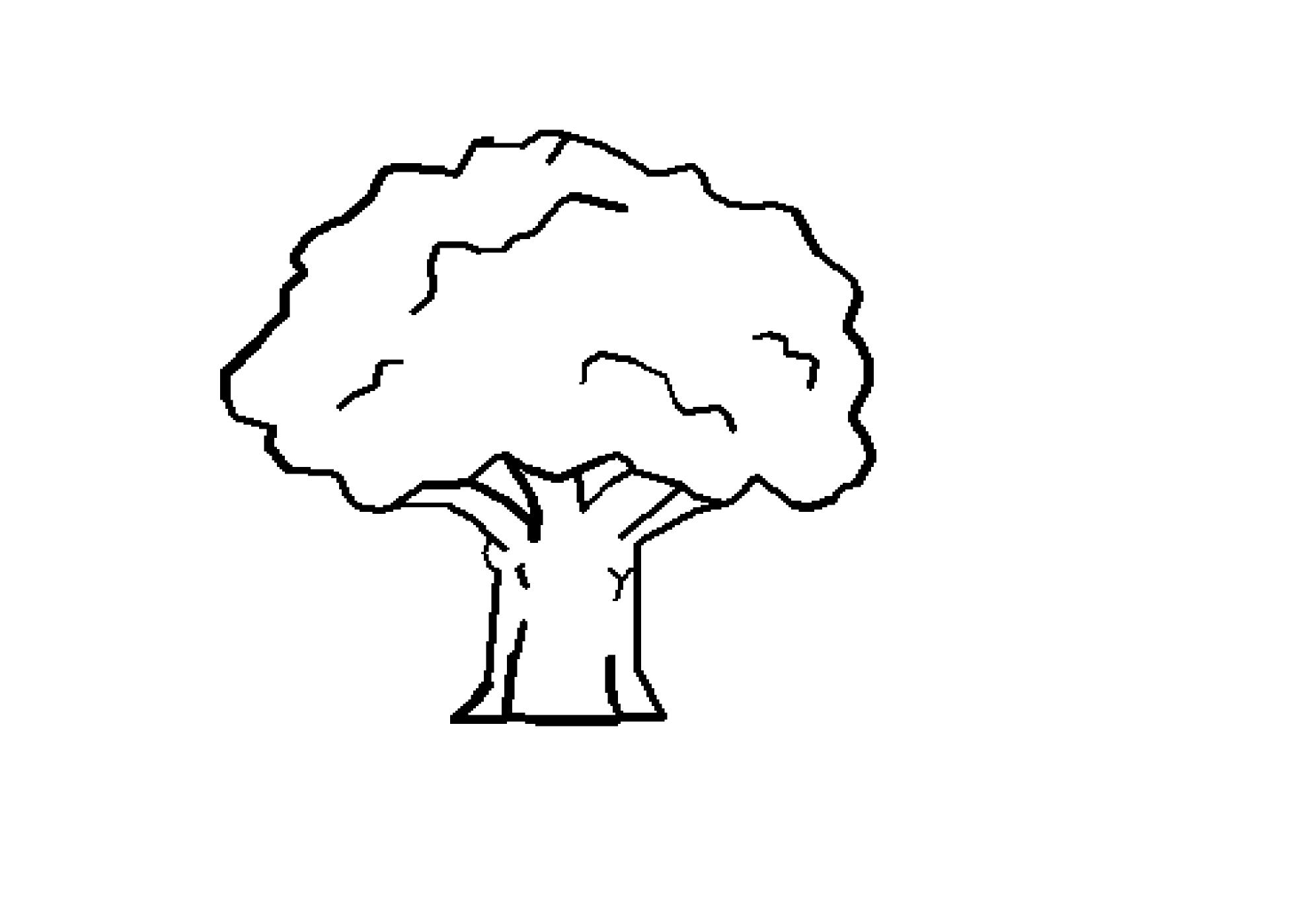 Clip Art: Tree Black White Line Art Coloring ... - ClipArt ...