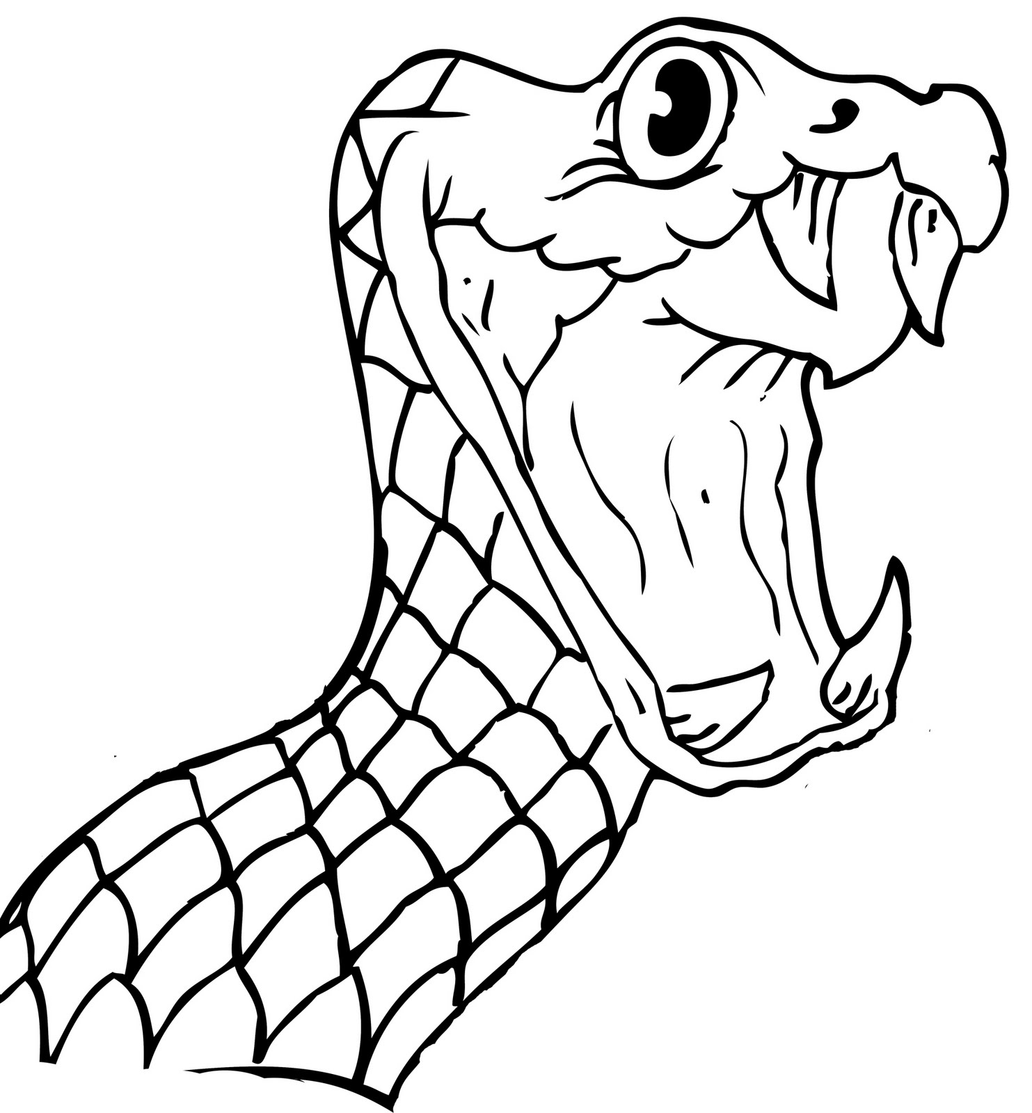 Line Drawing Snake : Cobra snake art clipart best