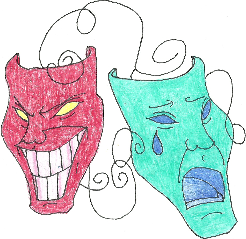 How To Draw Drama Masks - ClipArt Best