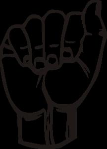 Sign Language A - ClipArt Best