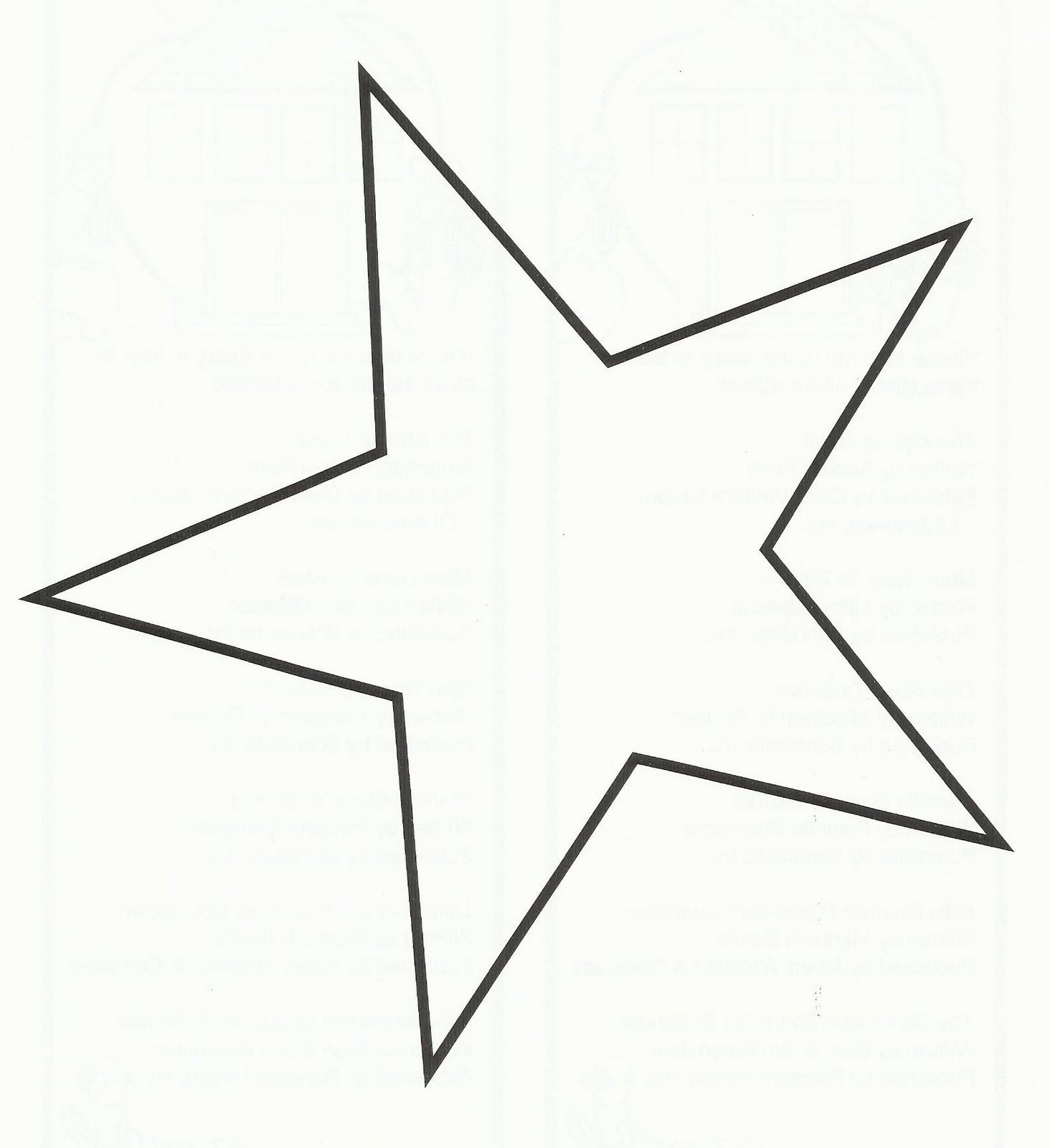 Star Template For Kids - ClipArt Best
