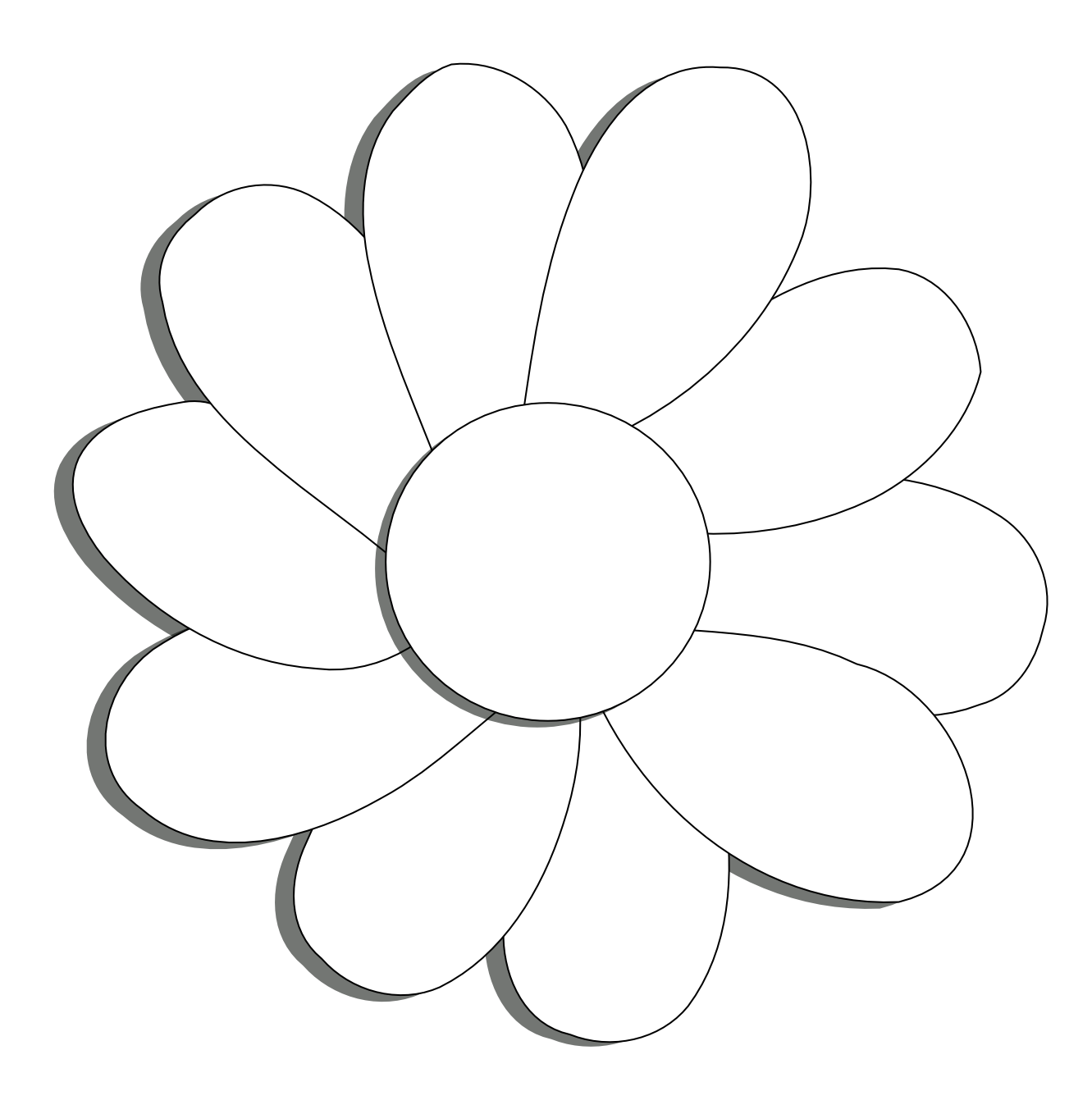 Line Art Flowers Vector : Daisy flower black white line art drawing scalable