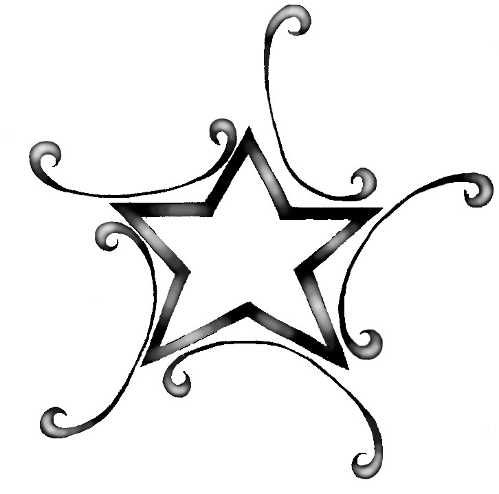 free star tattoos clipart best. Black Bedroom Furniture Sets. Home Design Ideas