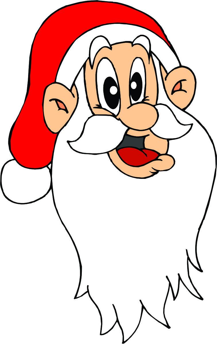 cartoon pictures of santa clipart best