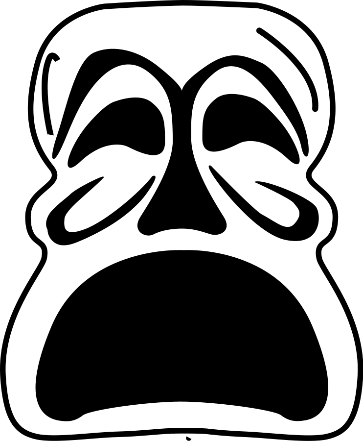 Drama Mask Vector - ClipArt Best