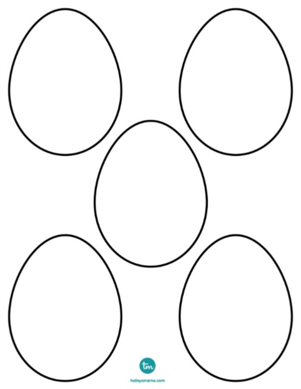 blank egg coloring pages - photo#23