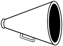 Clip Art Cheer Megaphone Clipart free printable clip art cheer megaphone clipart best cheerleading megaphone