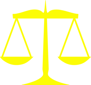 Yellow Scales Of Justice Clip Art - vector clip art ...