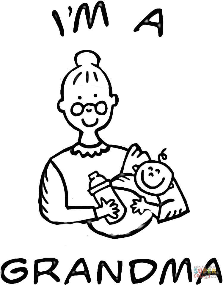 grandma coloring pages - grandma drawing clipart best