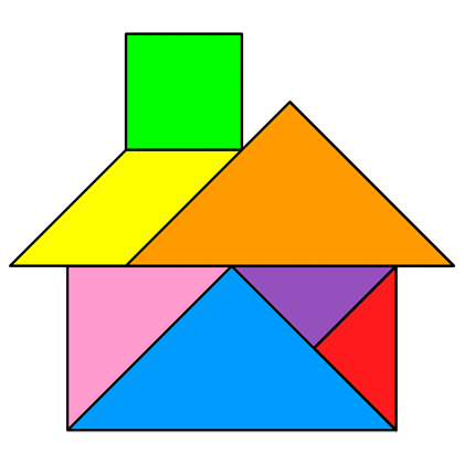 Tangram House - Tangram solution #20 - Providing teachers and ...