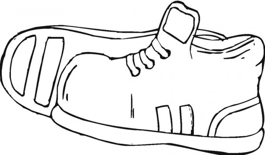Printable Sport Shoes Coloring Pages Kidskat Com Clipart Coloring Pages Shoes