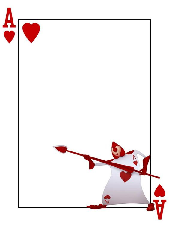 queen of hearts card template - photo #22