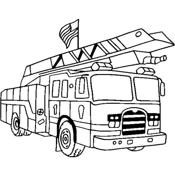 Fire Truck Coloring Page - Printable Free Coloring Pages - ClipArt Best -  ClipArt Best