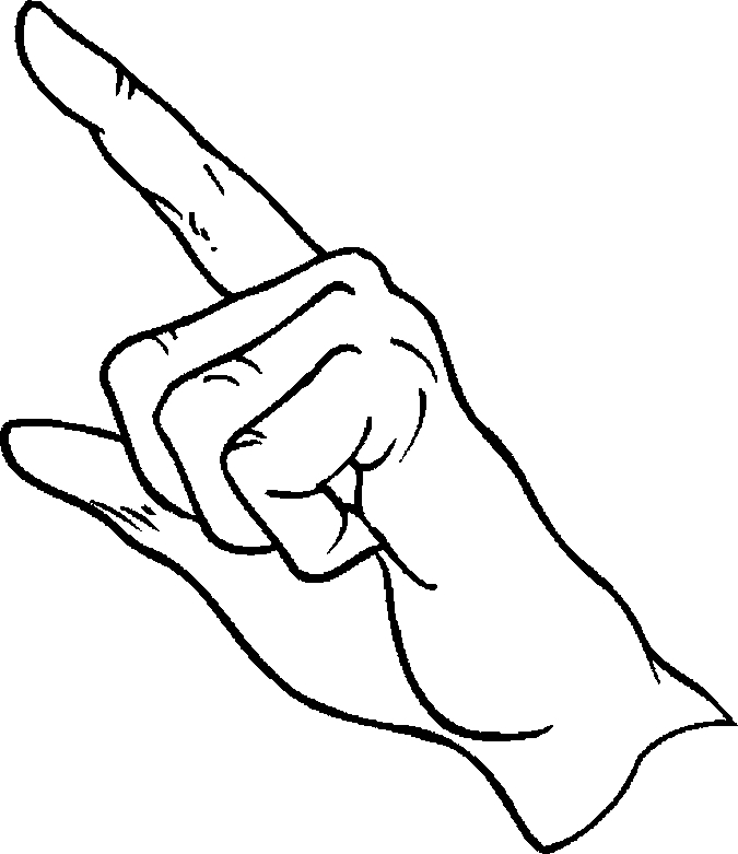 Finger Pointing Drawings