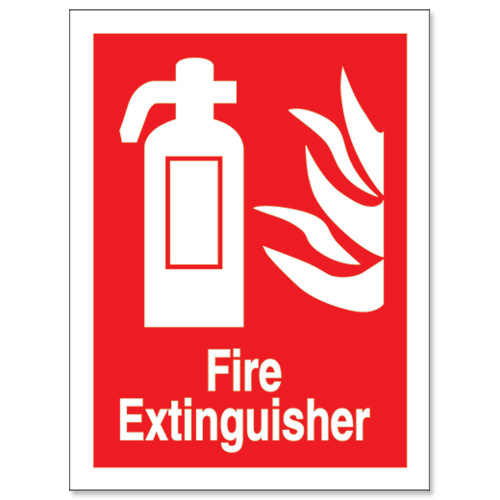 Eloquent image in printable fire extinguisher sign