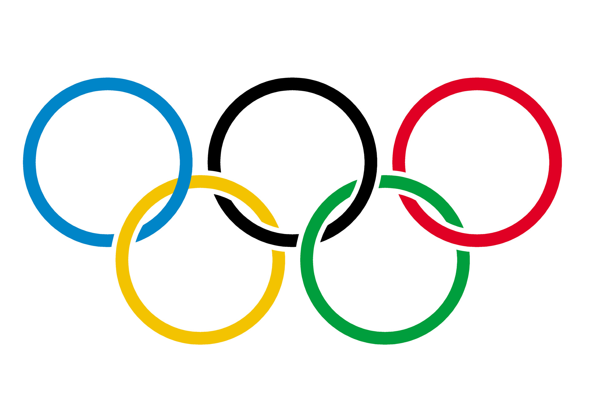 Olympic Rings On White Free Stock Photo - Public Domain Pictures