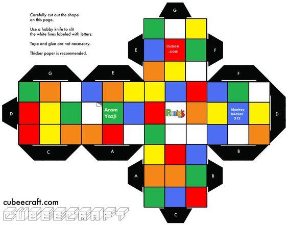 Как сделать кубик рубик из бумаги схема