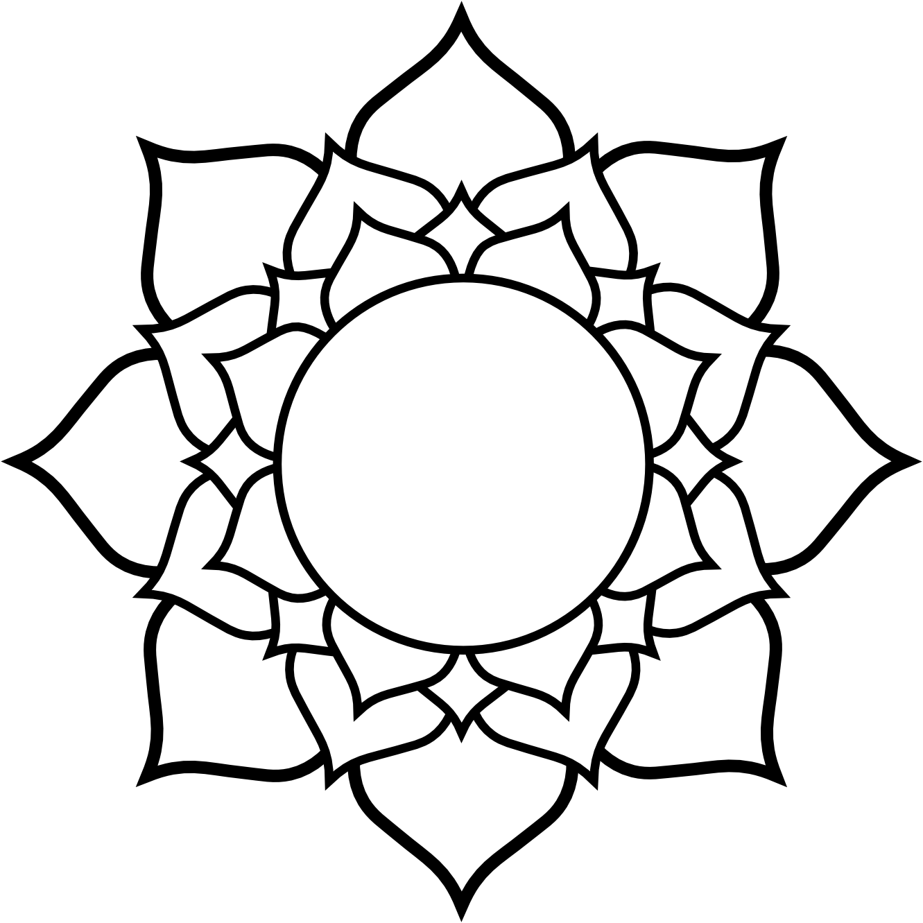 Simple Line Drawing Clip Art : Lotus flower line drawing clipart best