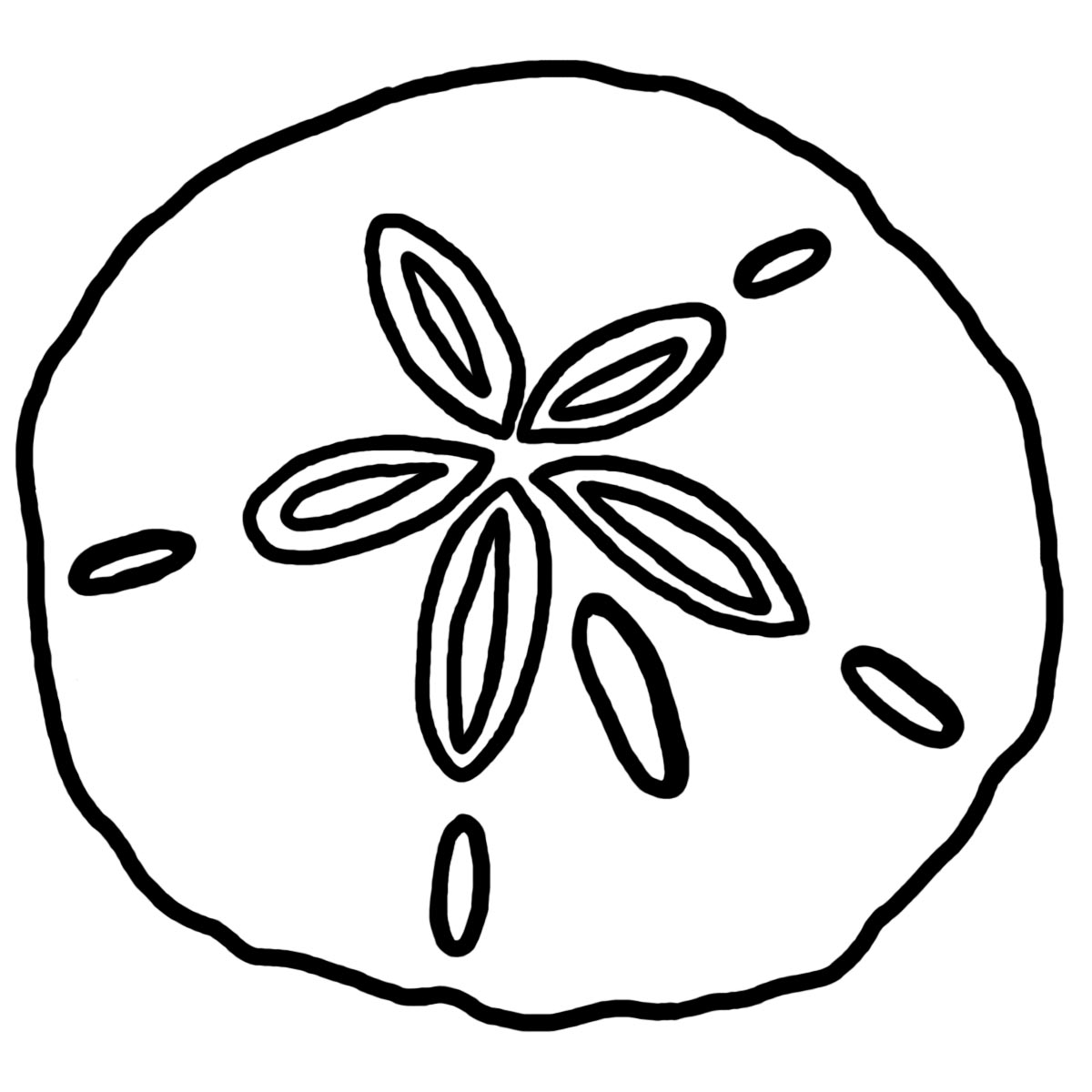 sand dollar coloring image clipart id 86027 : Uncategorized ...