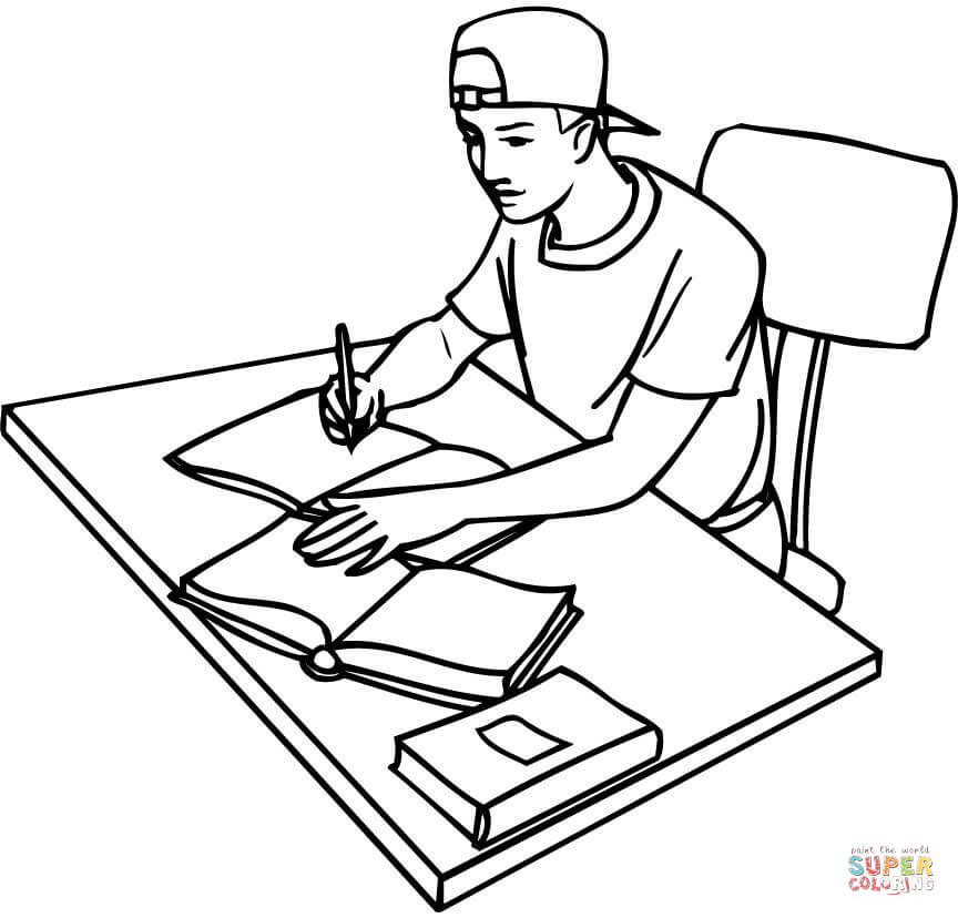 printable open book coloring pages - photo#19