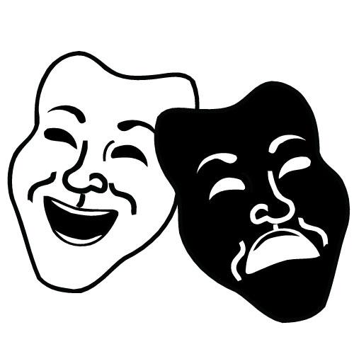 Drama masks logo clipart best for Art dramatique