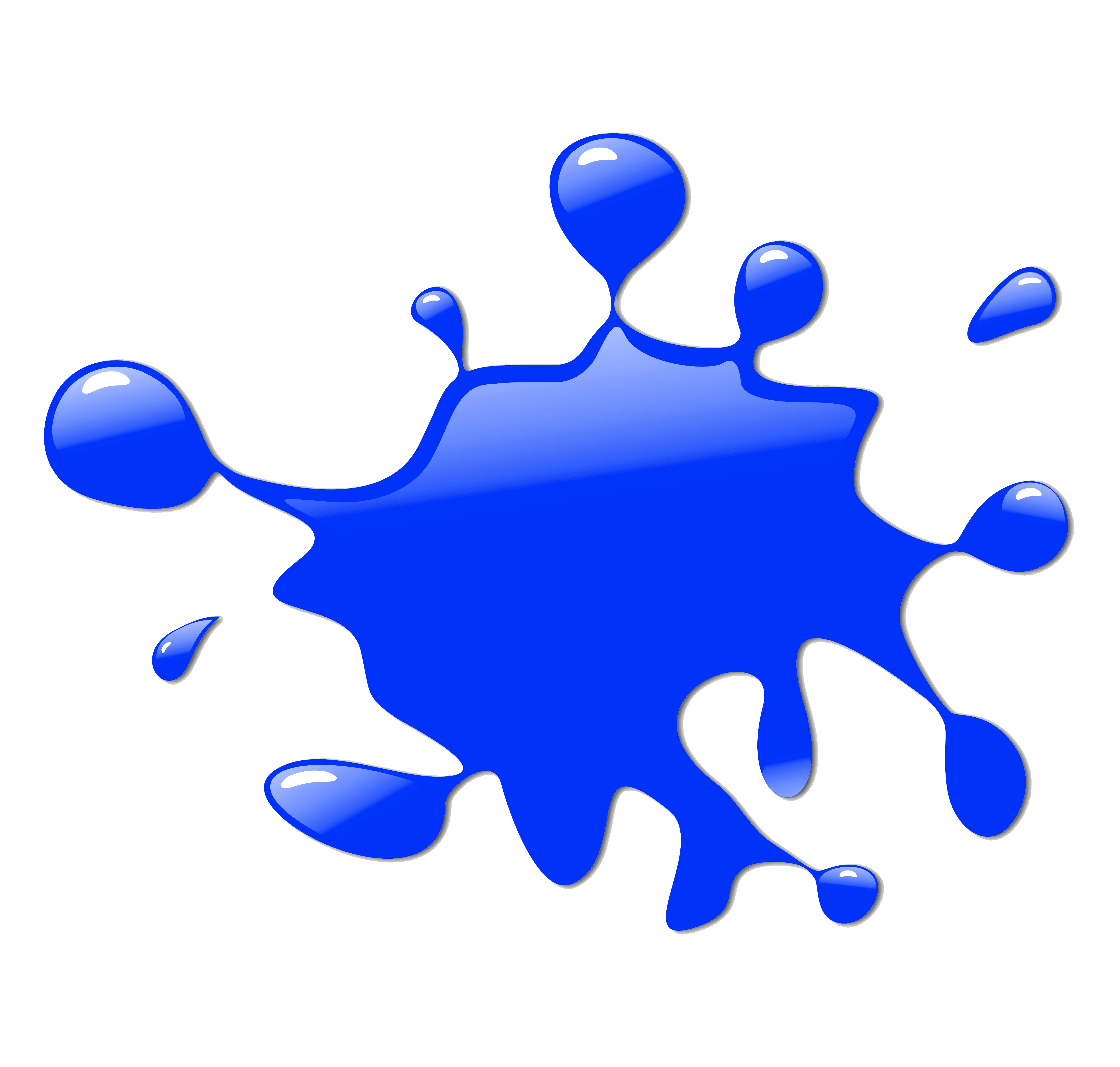 Blue Paint Splash Clipart