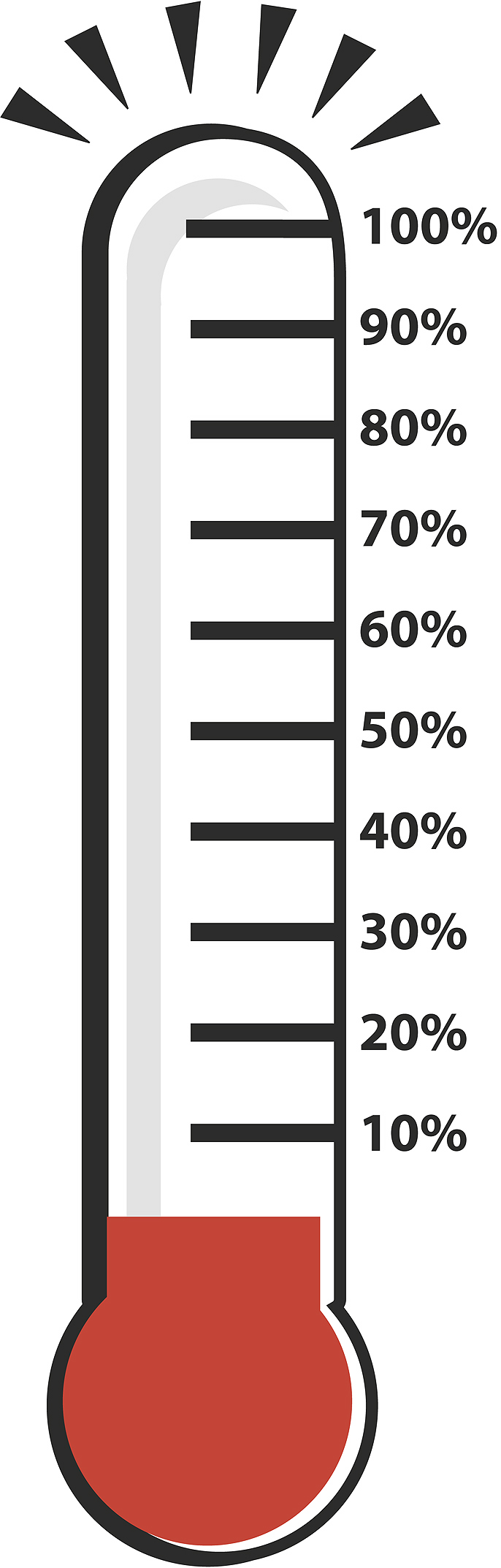 Fundraising Goal Thermometer Clipart