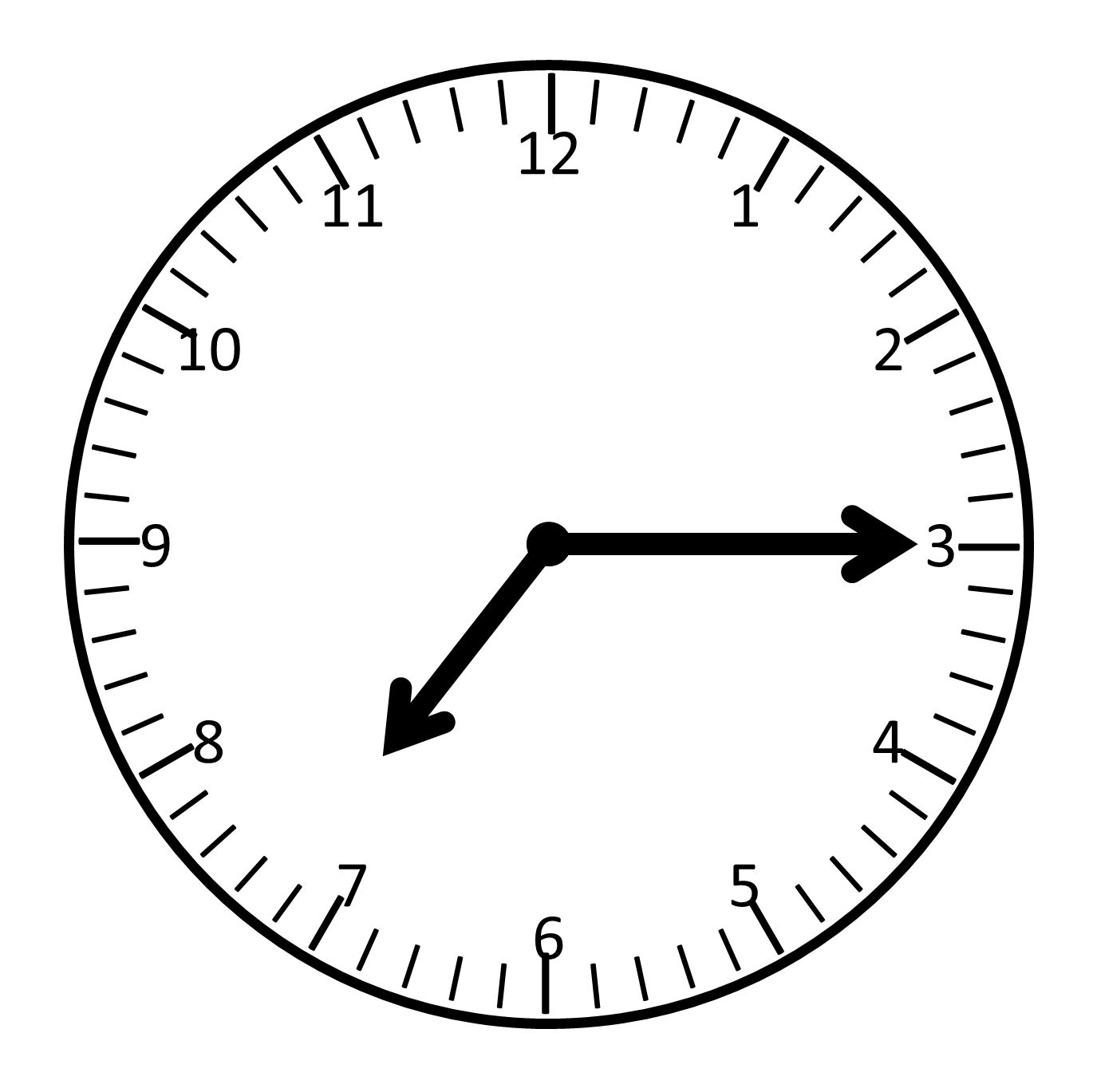Analog Clock Face Template - ClipArt Best