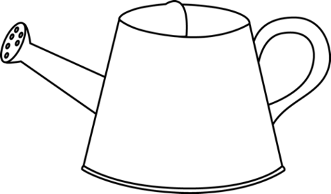 Clip Art Black And White Watering Can
