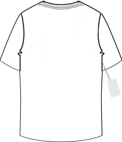 T shirt template back clipart best for T shirt back template