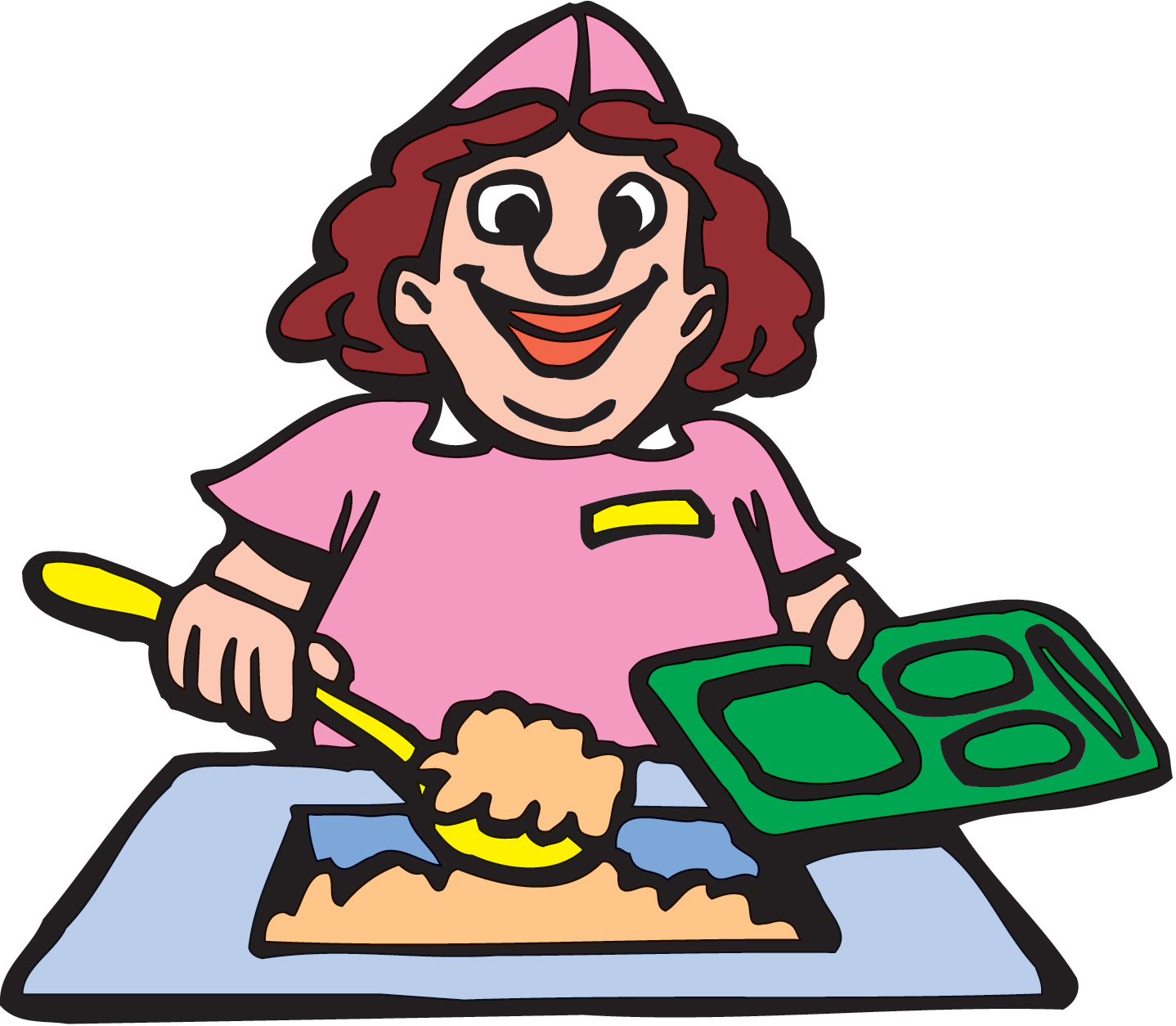 Healthy school lunch clipart
