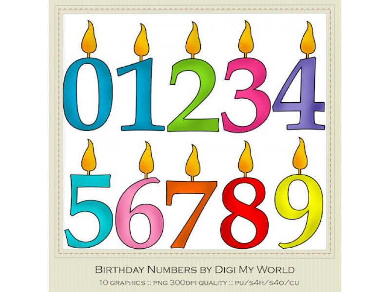 Birthday Candles Clipart - ClipArt Best