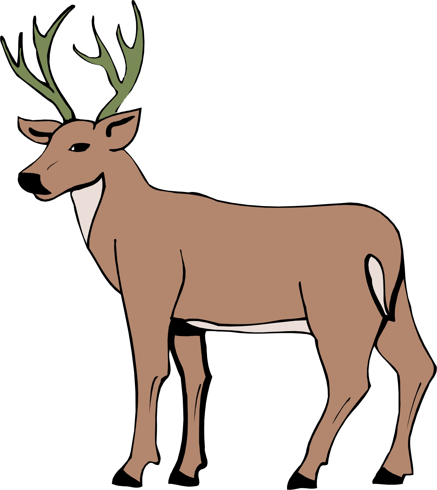 cartoon deer pictures clipart best elk clip art for cnc elk clipart images