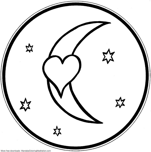 similiar moon and stars coloring pages keywords