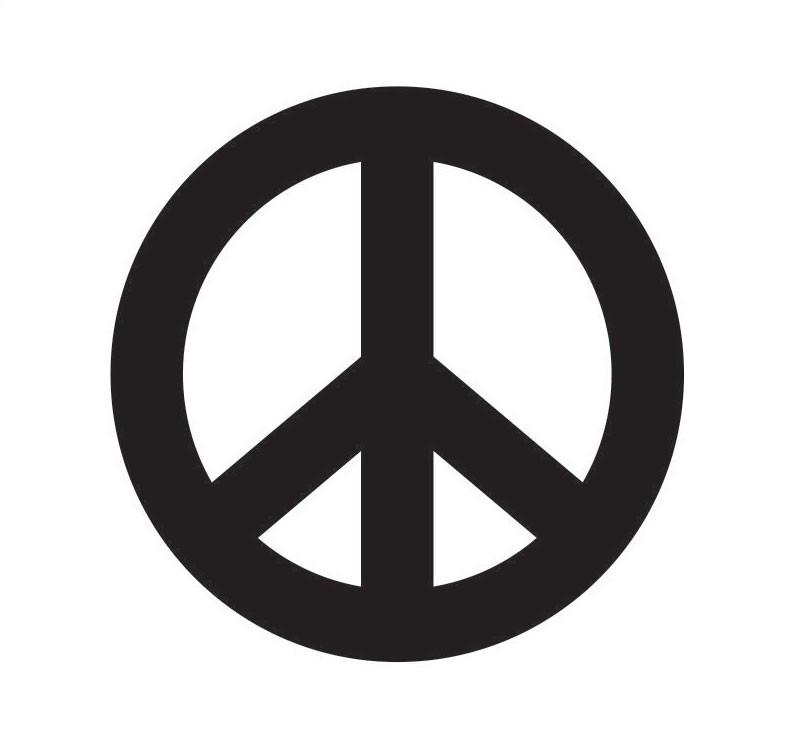 Peace Sign Spray Paint Stencil