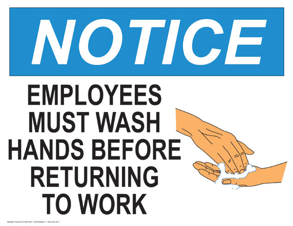 Notice Employees Must wash Your Hands - 21958 - CrownMax