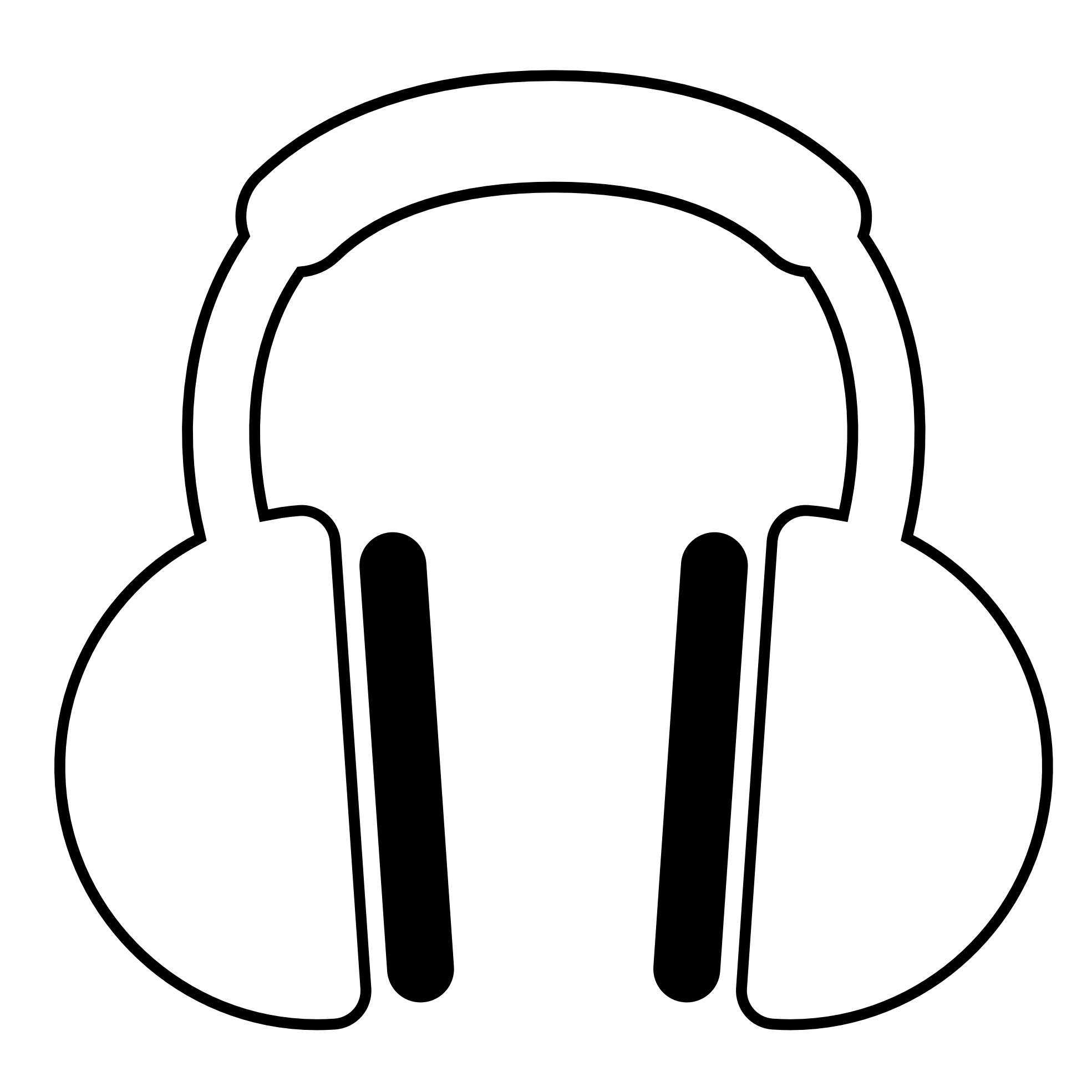 Line Art Headphones : People with headphones drawing clipart best