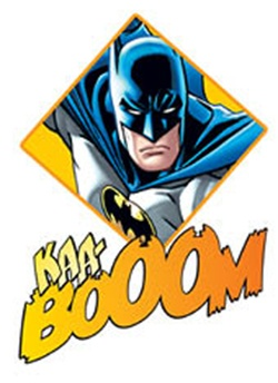 Batman comic boom clipart best for Superhero temporary tattoos