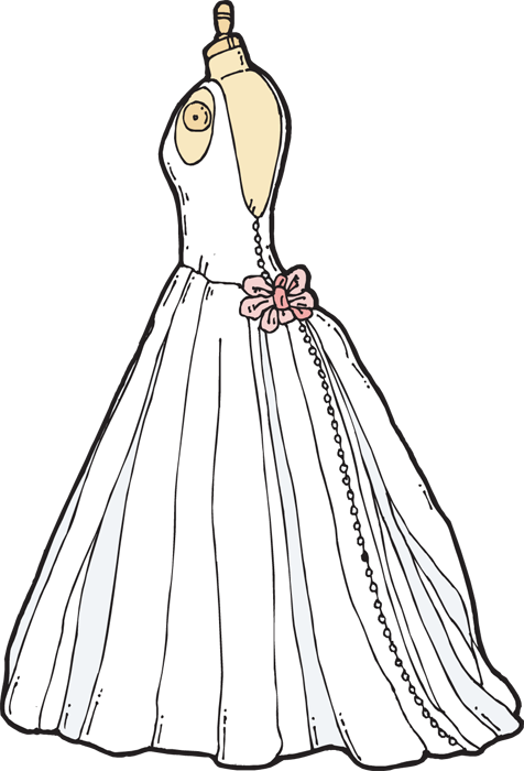 wedding gown clipart free - photo #1