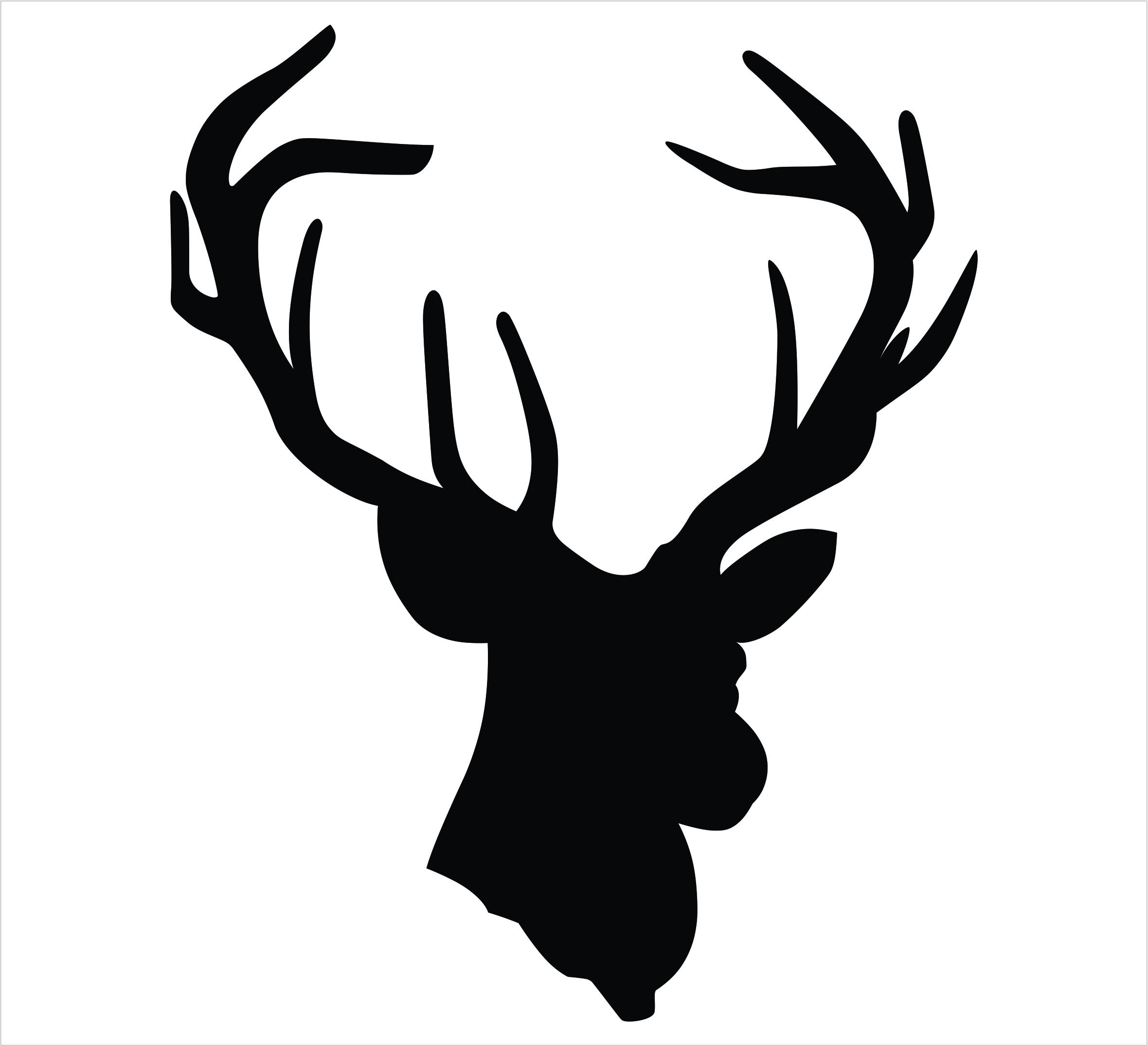 Template of reindeer head new calendar template site