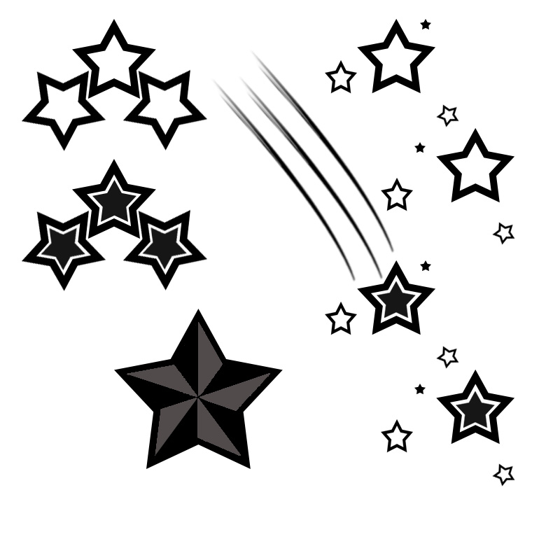 Free Star Tattoo Designs To Print - ClipArt Best