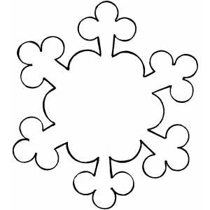 free preschool snow coloring pages | Snowflake Template - ClipArt Best
