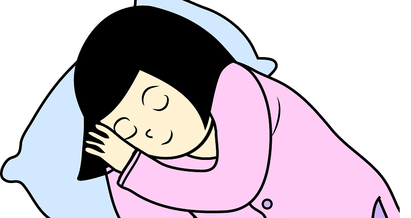 Cartoon Girl Sleeping - ClipArt Best