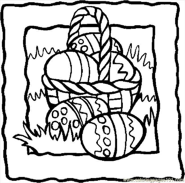 free printable coloring pages easter basket - coloring pages easter baskets clipart best