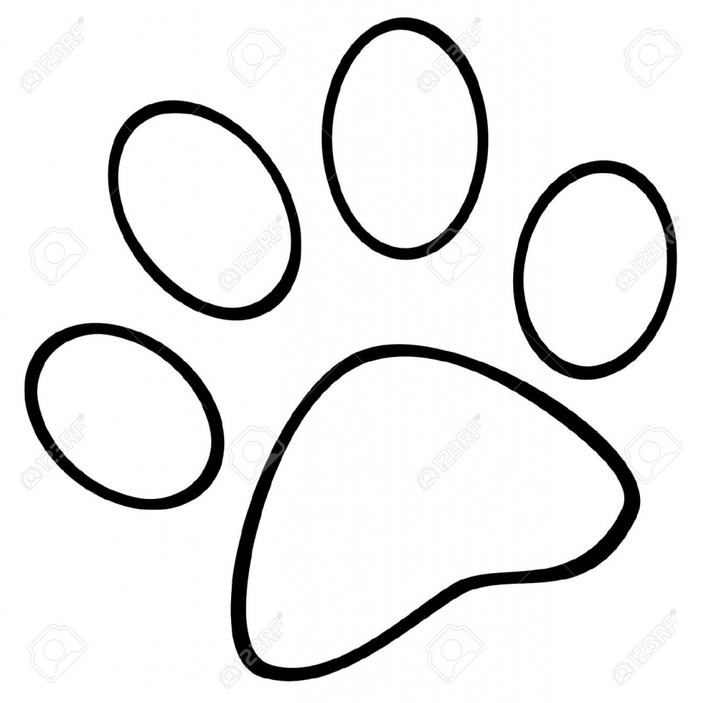 Paw Print Coloring Page ClipArt