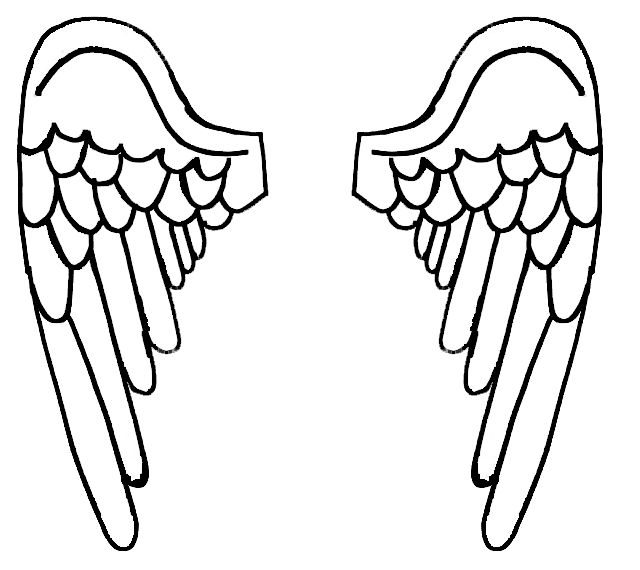 free angel wings coloring pages - photo#8