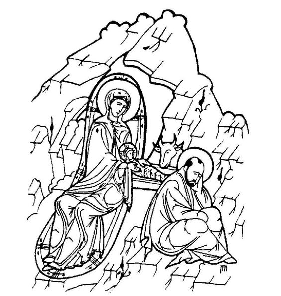 greek icon coloring pages - photo#14