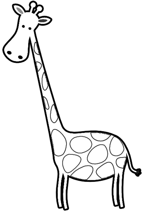 Giraffe outline for coloring pages ~ Giraffe Face Template - ClipArt Best