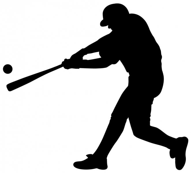 free clipart baseball player silhouette - photo #13
