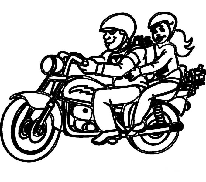 Color Motorcycle Coloring Page At Design Animal Coloring Clipart Best Clipart Best